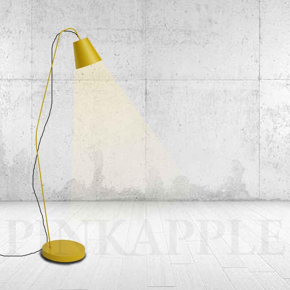Vintage yellow Floor Lamp